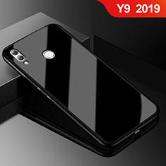 Huawei Y9 (2019)用ハイブリットバンパーケース プラスチック 鏡面 カバー ファーウェイ ブラック