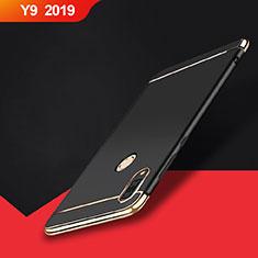 Huawei Y9 (2019)用ケース 高級感 手触り良い メタル兼プラスチック バンパー M01 ファーウェイ ブラック