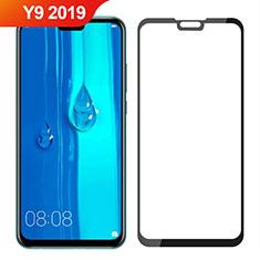 Huawei Y9 (2019)用強化ガラス フル液晶保護フィルム ファーウェイ ブラック