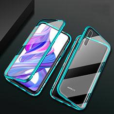 Huawei Y9s用ケース 高級感 手触り良い アルミメタル 製の金属製 360度 フルカバーバンパー 鏡面 カバー M07 ファーウェイ グリーン