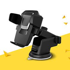スマートフォン車載ホルダー 車載スタンド 真空吸盤で車のダッシュボードに直接取り付け ユニバーサル H04 シルバー