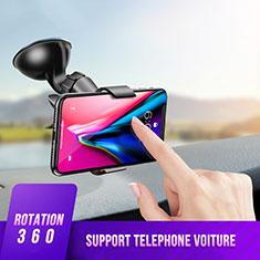 Samsung Galaxy S30 5G用スマートフォン車載ホルダー 車載スタンド 真空吸盤で車のダッシュボードに直接取り付け ユニバーサル H07 ブラック