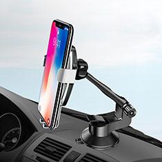 Samsung Galaxy S30 5G用スマートフォン車載ホルダー 車載スタンド 真空吸盤で車のダッシュボードに直接取り付け ユニバーサル H10 シルバー