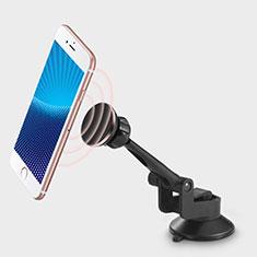 Samsung Galaxy S30 5G用スマートフォン車載ホルダー 車載スタンド 真空吸盤で車のダッシュボードに直接取り付け ユニバーサル H19 ブラック