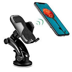 Samsung Galaxy S30 5G用スマートフォン車載ホルダー 車載スタンド 真空吸盤で車のダッシュボードに直接取り付け ユニバーサル H23 ブラック