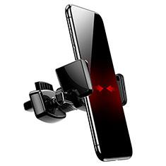 Samsung Galaxy S30 5G用スマホ車載ホルダー 車載スタンド エアベント ユニバーサル A05 ブラック