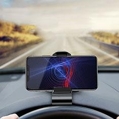 Samsung Galaxy S30 5G用スマートフォン車載ホルダー 車載スタンド クリップで車のダッシュボードに直接取り付け ユニバーサル T01 ブラック