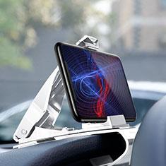 Samsung Galaxy S30 5G用スマートフォン車載ホルダー 車載スタンド クリップで車のダッシュボードに直接取り付け ユニバーサル T03 ホワイト