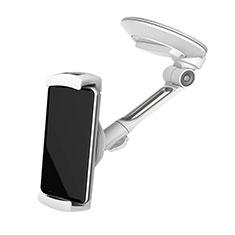 Samsung Galaxy S30 5G用スマートフォン車載ホルダー 車載スタンド 真空吸盤で車のダッシュボードに直接取り付け ユニバーサル H22 シルバー
