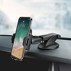 Samsung Galaxy J5 Pro 2017 J530Y用スマートフォン車載ホルダー 車載スタンド 真空吸盤で車のダッシュボードに直接取り付け ユニバーサル Z03 ブラック