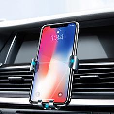 Huawei Rhone用スマートフォン車載ホルダー 車載スタンド エアベント ユニバーサル Z02 シルバー