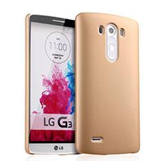 LG G3用ハードケース プラスチック 質感もマット LG ゴールド