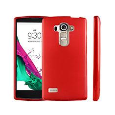 LG G4 Beat用極薄ソフトケース シリコンケース 耐衝撃 全面保護 クリア透明 LG レッド