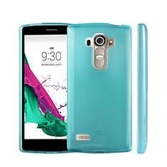 LG G4 Beat用極薄ソフトケース シリコンケース 耐衝撃 全面保護 クリア透明 LG ブルー