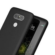 LG G5用シリコンケース ソフトタッチラバー LG ブラック