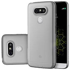 LG G5用極薄ソフトケース シリコンケース 耐衝撃 全面保護 クリア透明 T02 LG グレー