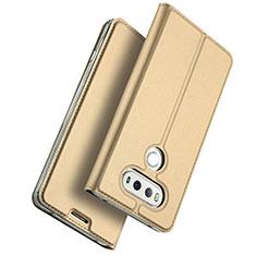 LG G6用手帳型 レザーケース スタンド LG ゴールド