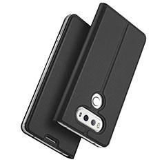 LG G6用手帳型 レザーケース スタンド LG ブラック