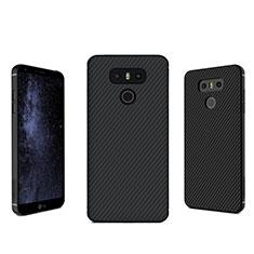 LG G6用シリコンケース ソフトタッチラバー ツイル LG ブラック