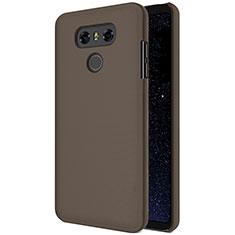 LG G6用ハードケース プラスチック 質感もマット LG ブラウン