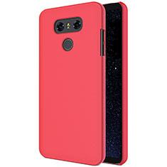 LG G6用ハードケース プラスチック 質感もマット M01 LG レッド