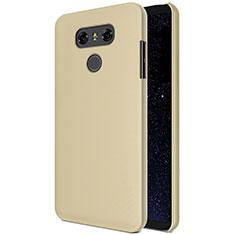LG G6用ハードケース プラスチック 質感もマット M01 LG ゴールド