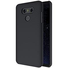 LG G6用ハードケース プラスチック 質感もマット B01 LG ブラック