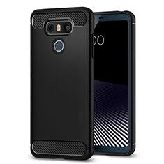 LG G6用シリコンケース ソフトタッチラバー カバー LG ブラック