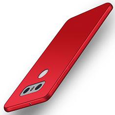 LG G6用極薄ソフトケース シリコンケース 耐衝撃 全面保護 LG レッド