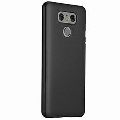 LG G6用ハードケース プラスチック 質感もマット LG ブラック