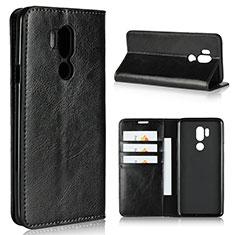 LG G7用手帳型 レザーケース スタンド カバー L01 LG ブラック