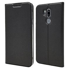 LG G7用手帳型 レザーケース スタンド カバー L03 LG ブラック