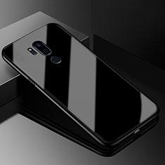 LG G7用ハイブリットバンパーケース プラスチック 鏡面 カバー LG ブラック
