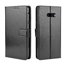 LG G8X ThinQ用手帳型 レザーケース スタンド カバー LG ブラック