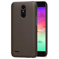 LG K10 (2017)用ハードケース プラスチック 質感もマット LG ブラウン