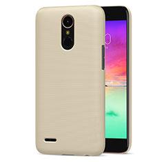 LG K10 (2017)用ハードケース プラスチック 質感もマット LG ゴールド