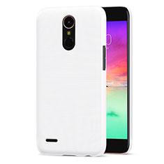 LG K10 (2017)用ハードケース プラスチック 質感もマット LG ホワイト