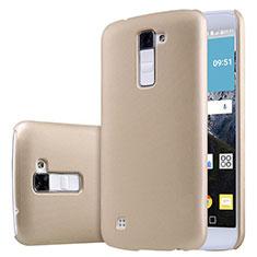 LG K10用ハードケース プラスチック 質感もマット LG ゴールド