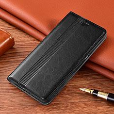 LG K22用手帳型 レザーケース スタンド カバー L01 LG ブラック