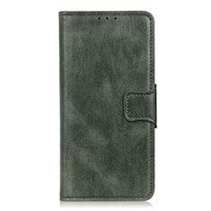 LG K22用手帳型 レザーケース スタンド カバー L07 LG グリーン