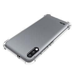 LG K22用極薄ソフトケース シリコンケース 耐衝撃 全面保護 クリア透明 カバー LG クリア