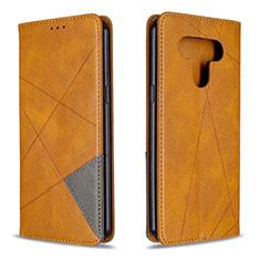 LG K51用手帳型 レザーケース スタンド カバー LG イエロー