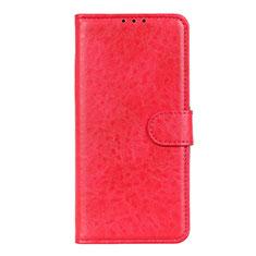 LG K51用手帳型 レザーケース スタンド カバー L01 LG レッド