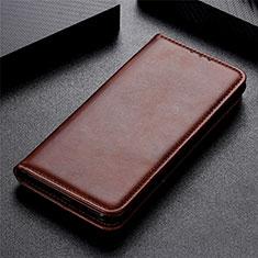 LG K51用手帳型 レザーケース スタンド カバー L02 LG ブラウン