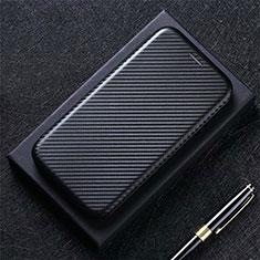LG K52用手帳型 レザーケース スタンド カバー L09 LG ブラック