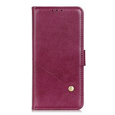 LG K52用手帳型 レザーケース スタンド カバー L08 LG ワインレッド
