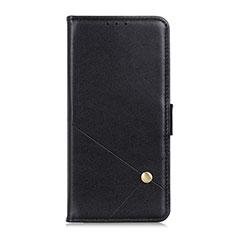 LG K52用手帳型 レザーケース スタンド カバー L08 LG ブラック