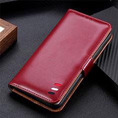 LG K52用手帳型 レザーケース スタンド カバー LG ワインレッド
