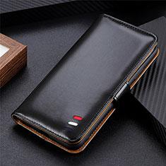 LG K52用手帳型 レザーケース スタンド カバー LG ブラック