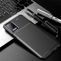 LG K52用シリコンケース ソフトタッチラバー ツイル カバー LG ブラック